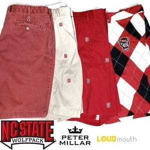 (4) NC State Shorts Size 40 Loudmouth Peter Millar